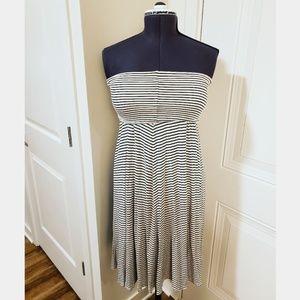 White/Black Strapless Dress/Skirt